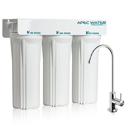 APEC WFS-1000 Super Capacity Premium Quality 3 Stage Under-Sink Water Filter System (Renewed)