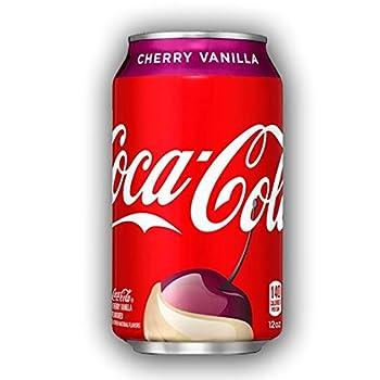 New Coca-cola Cherry Vanilla Coke 12 fl oz cans 12 count