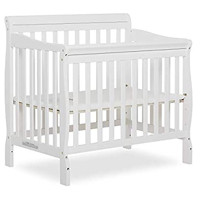 Dream On Me Aden 4-in-1 Convertible Mini Crib in White, Greenguard Gold Certified from Dream on Me