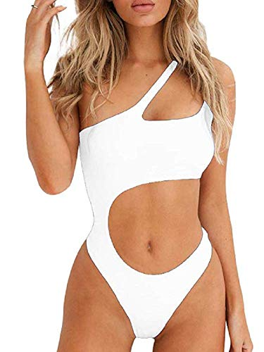 Ducomi Joy Damen-Badeanzug – One-Shoulder-Träger mit Cut Out an der Taille