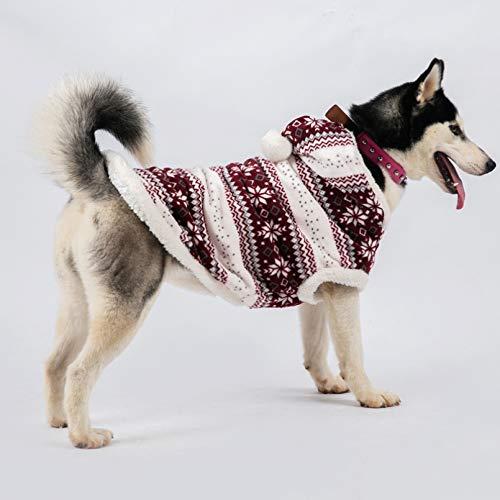 N/A Abrigo Grande para Perros, Chaqueta cálida de Invierno, Ropa Grande para Perros, Ropa de Navidad para Mascotas, Disfraz de Corgi Husky Labrador Golden Retriever Manténgase