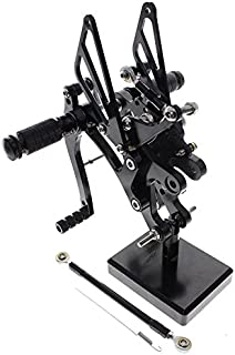 FXCNC Racing 98-03 R1 Billet Motorcycle Rearset Foot Pegs Rear Set Footrests Fully Adjustable Foot Boards Fit For Yamaha YZF R1 1998 1999 2000 2001 2002 2003