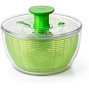 OXO Good Grips Salatschleuder mit Sieb und Deckel, grün– zum Trocknen von Salat