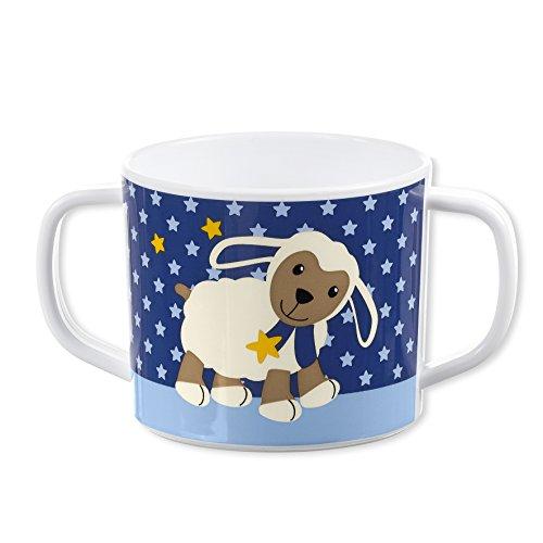 Sterntaler Tasse avec anses, Motif: du Mouton Stanley, Âge: Pour les bébés à partir de 6 mois, Bleu