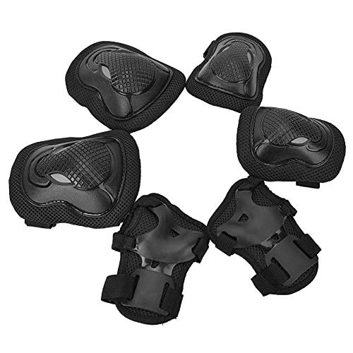 Skates Skates Conjuntos de protección, almohadillas de rodilla para niños Set 6 en 1 Kit Rodamadas de engranajes de protección usados para patines para rodillos Monopatín de bicicleta Montar a cabal