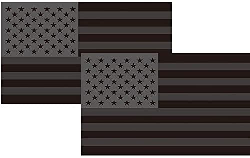 ZBRO All Black American Flag Bumper Sticker,US Black Flag Vinyl Decals for Laptop Truck Car Bumper...