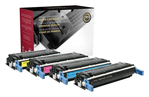 Inksters of America Remanufactured Toner Cartridge Replacements for HP 641A C9720A C9721A C9722A C9723A Color Set (KCYM) - Black 9,000, Colors 8,000 Pages (4 Pack)