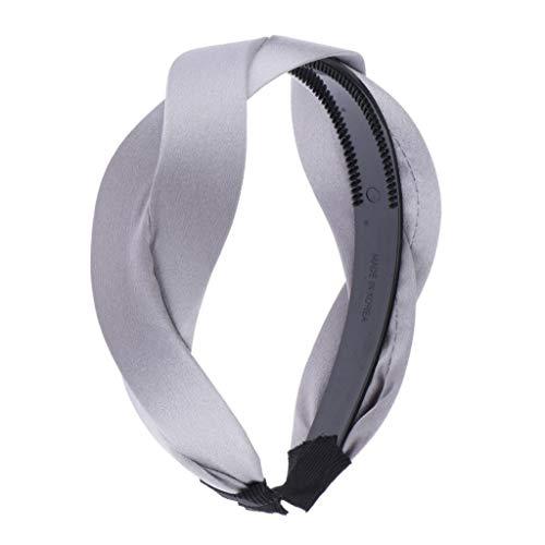dailymall Breites Haarreif Stirnband Haarband Haarschmuck Wellen Form für Damen - Silber grau