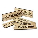 Porte-clés en Bois pour abri de Jardin, Garage, Personnalisable en chêne