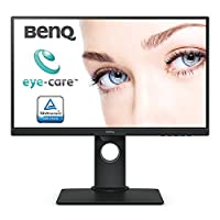 "BenQ BL2480T - Monitor Profesional de 23.8"" FullHD (1920x1080, 5ms, IPS, DisplayPort, VGA, Altavoces, Eye-Care, Sensor Brillo Inteligente, Flicker-Free, Low Blue Light, Regulable Altura) - Negro"