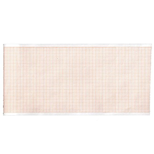 Gima 32970 Rotolo Carta Termica Ecg, Griglia Arancio, 110 mm x 20 m