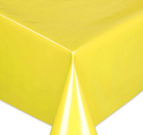 Wachstuchtischdecke Tischdecke Wachstuch abwischbar, Glatte Oberfläche Uni Motiv Gelb, Farbe + Größe wählbar 100x140 cm