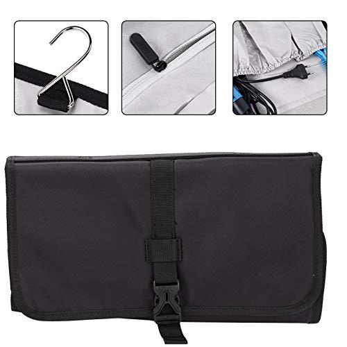 Uxsiya Kit de secador de Pelo Bolsa de Almacenamiento Negra Accesorios prácticos para rizador de Pelo Almacenamiento portátil para Uso Diario para Hombres y Mujeres para el hogar