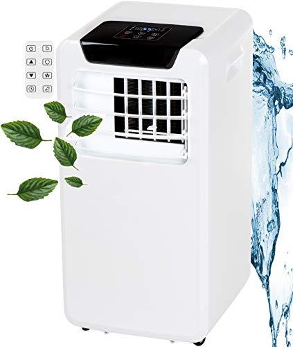 3in1 Mobile Klimaanlage 9000 BTU 24h Timer Fernbedienung Nachtmodus 2 Geschwindigkeitsstufen Aircooler Klimagerät Klima Anlage Air Cooler Ventilator (White)