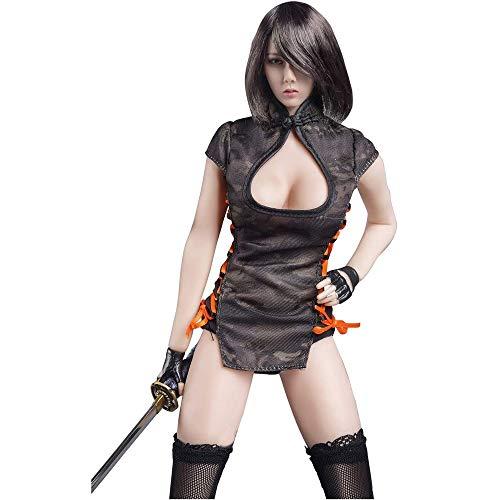 YYSDH 1/6 corpo femminile Samurai ragazze cheongsam set (nero CP mimetico)