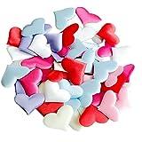 cdzhouji A forma di cuore Petali di rosa romantico Tridimensionale petali di spugna per 500pcs San Valentino Matrimoni Decorazione