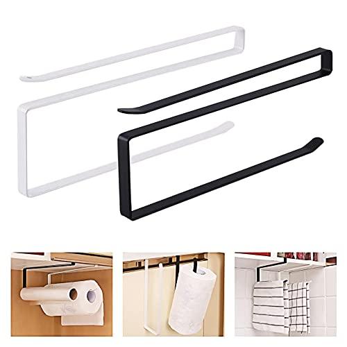2 Pieces Roll Holder Kitchen Roll Holder under Cabinet , Paper Towel Holder...