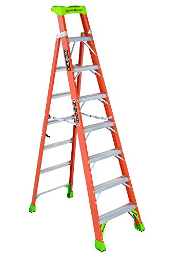 Louisville Ladder 8Foot Fiberglass Step/Shelf Ladder 300Pound Capacity Orange FXS1508