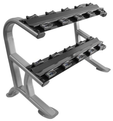 Oval-Line CHD Heavy Duty Kurzhantel Ablage in Studio-Qualität - Ablage / Rack für bis zu 5 Paar Kurzhanteln BCA-118
