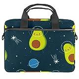 Laptoptasche mit niedlichem Avocado-Cartoon-Weltraum-Motiv, 33,4–36,7 cm (13,4–14,5 Zoll)...