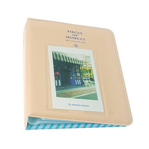 FoRapid Pieces Of Moment Instax mini Photo Album for Instax Mini 9 8 8+ 70 90 7s 25 26 50s/ Pringo 231/ Fujifilm Instax SP-1/ Polaroid PIC-300P/Z2300 Snap Touch & Name Card(64 +1 Photos, Creamy White)