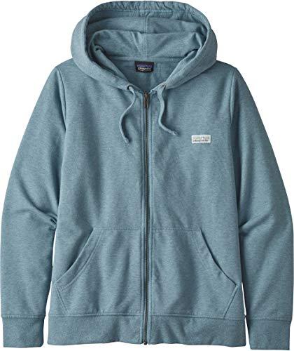 Patagonia Damen W's Pastel P-6 Label Ahnya Full-Zip Hoody Sweatshirt, Berlin blau, M