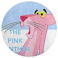 ピンクパンサー 円形マット ラグマット ふわふわ 丸型マット 防音 寝室 リビング 遊びマット 子供部屋 滑り止め DANESI 洗面台 バスマット 洗える キャラクター おしゃれ かわいい