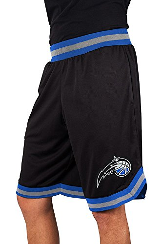 NBA Herren Mesh Basketball Shorts Woven Active Basic, Team Logo schwarz, Herren, GSM3547F, schwarz, Large