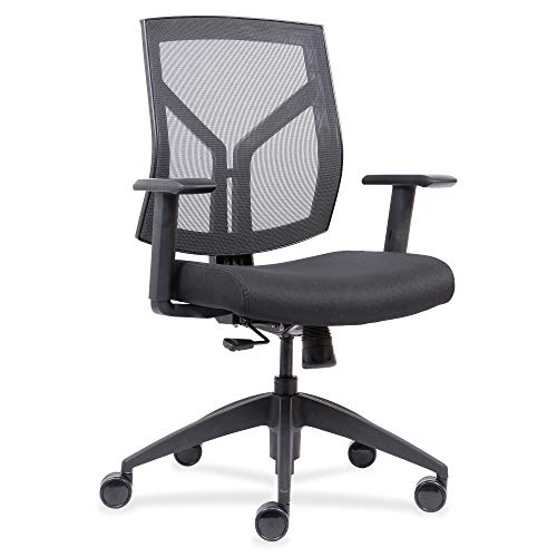 Lorell USA Seating Vevo Chair, 45' x 26.5' x 25', Black