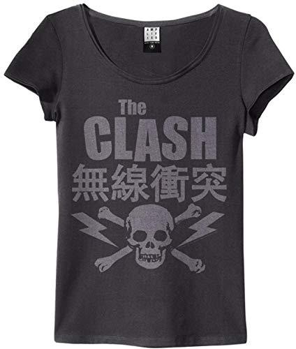 Amplified Damen T-Shirt (The Clash Bolt, Charcoal, S)