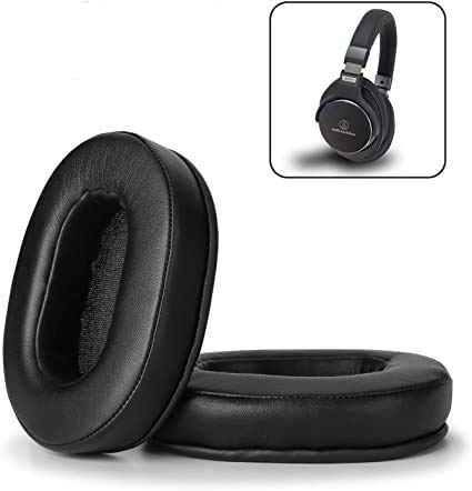 Replacement Ear Pads for ATH M50x,Ear Cushions Kit Memory Foam Earpads Cover Compatible with Audio Technica M40X M30X M20 Sony MDR-7506 V6 CD900ST Ultrasone and More (Full List Inside), Black