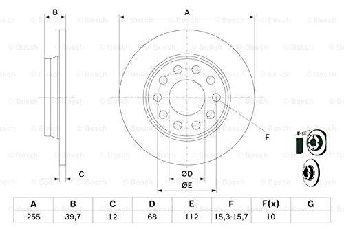 Bosch 0 986 478 987 - Discos de freno (2 unidades)