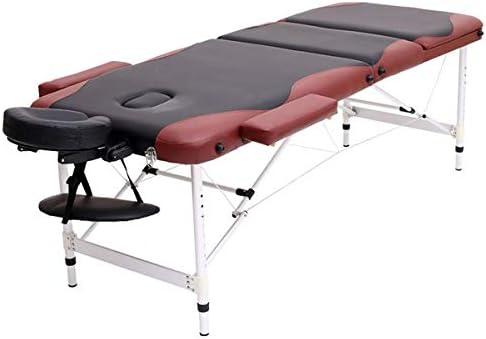 SISHUINIANHUA Aluminium 3 Limited price sale Section Massage Bed Portable Sacramento Mall Salon Fur