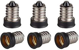 Qishare E14 to E12 Adapter Converter Lamp Adapter (6 PCS)