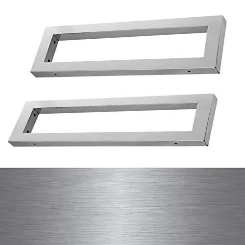 Wandkonsole Träger Waschtisch Platte Unterbau Edelstahl Gebürstet 300x150x30 mm WK30EGB 2 er Pack