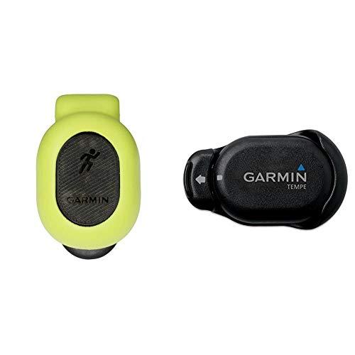 Garmin Running Dynamics Pod - kompaktes Design, Laufeffizienz-Werte, einfache Bedienung, Batterielaufzeit bis zu einem Jahr & Tempe Temperatur-Funksensor