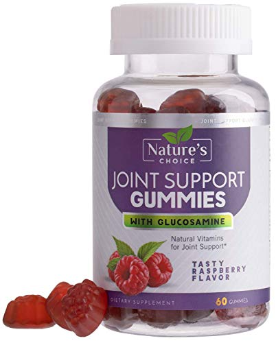 Glucosamine Gummies Extra Strength Joint Support Gummy with Vitamin E - Naturally Assists Cartilage & Flexibility - Best Support Chew for Men and Women - 60 Gummies