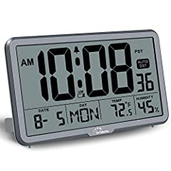 Wall Clocks with Temperature and Humidity - These digital wall clocks are equipped with Swiss high precision SHTC3 detection sensors,help you master the most accurate indoor temperature and humidity and create the most comfortable indoor environment....