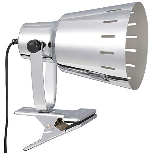 オーム電機 LEDクリップライト(E26・電球別売/シルバー) LTC-N126AW-S クリップ約100mm、アーム約64mm、セード約外径110mm×長さ151mm