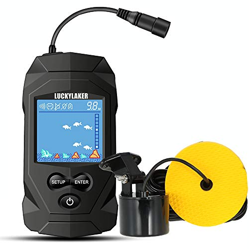 LUCKYLAKER Water Boat Fish Finders Depth Portable Handheld Fish Finder...