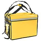CityBAG - Bolsa isotérmica 50 x 39 x 39 cm Amarilla para Comidas al Aire Libre y Entrega de Pedidos de Comida en Moto o Bicicleta