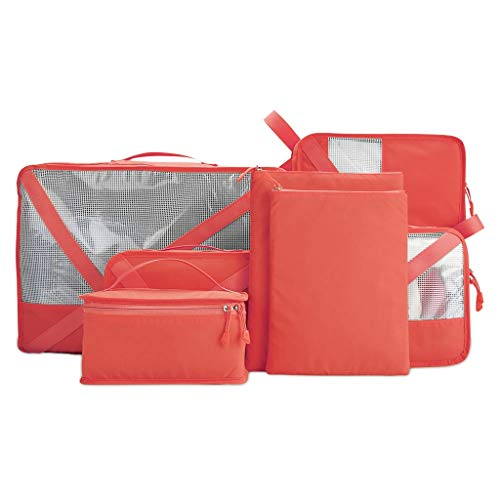 Storage Bag PRIDE S Travel suitcase toiletries set waterproof luggage travel finishing packing shoes clothes underwear packaging package Storage decoration (Color : Red)