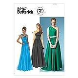 Butterick Patterns 5987 B5 - Patrones de Costura de Vestidos para Mujer (Tallas 36, 38, 40, 42 y 44), Multicolor