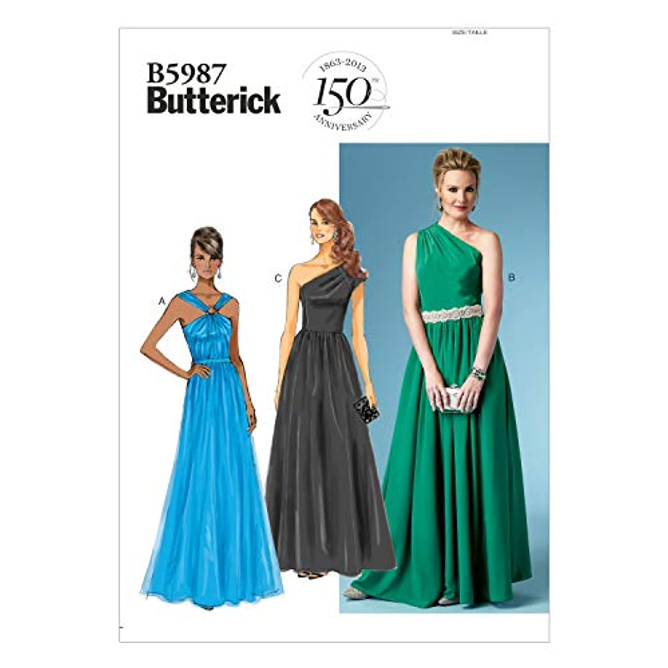 BUTTERICK PATTERNS B5987 Misses' Dress Sewing Template, Size B5
