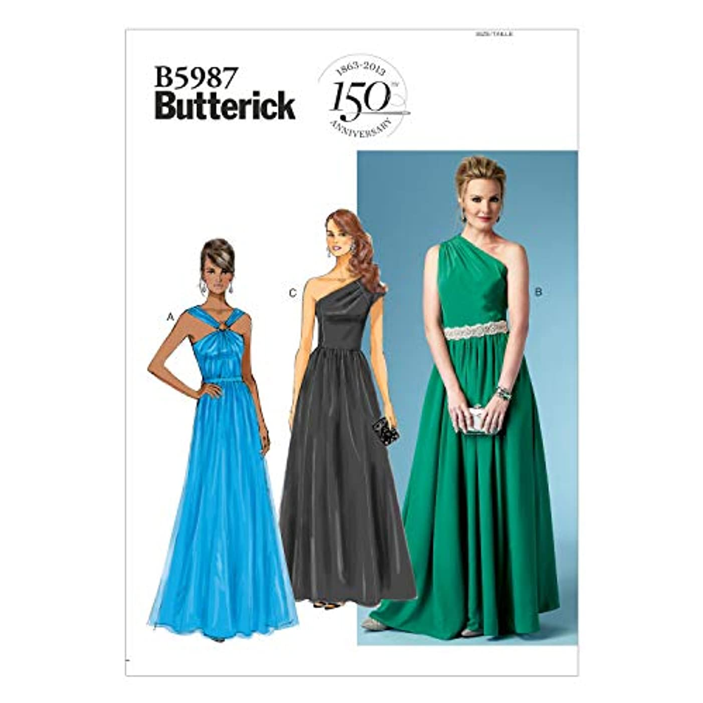BUTTERICK PATTERNS B5987 Misses' Dress Sewing Template, Size F5