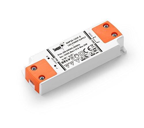 LIGHTEU 12V 20W LED Treiber/LED Trafo super slim