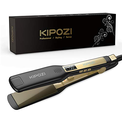 KIPOZI Professional Titanium Flat Iron Hair Straightener...