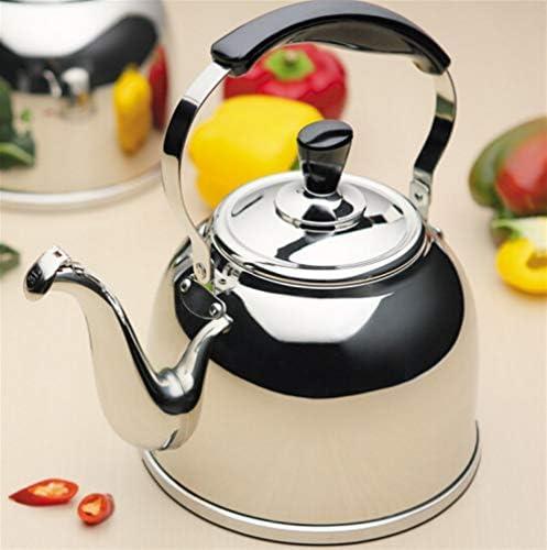 Bouilloire, théière de bouilloire en argent 3L / 4L / 5L, théière anti-brûlure en acier inoxydable 304, bouilloire for cuisinière à gaz à induction (Size : 4L)