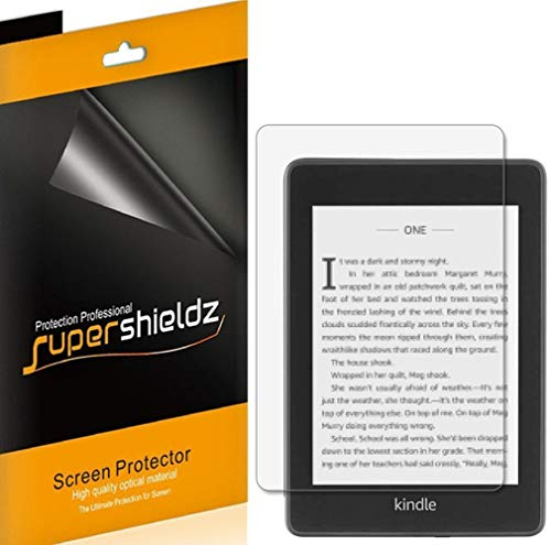 (3 Pack) Supershieldz for Kindle Paperwhite (10th Generation 2018 release) Screen Protector, Anti Glare and Anti Fingerprint (Matte) Shield