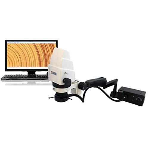 Laxco A10-MV2 Series A10 Stereo Microscope, 3MP Digital Head, 5.5X to 175X Magnification Range, 110V